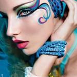 Maquillage artistique présenté dans le magazine MUP