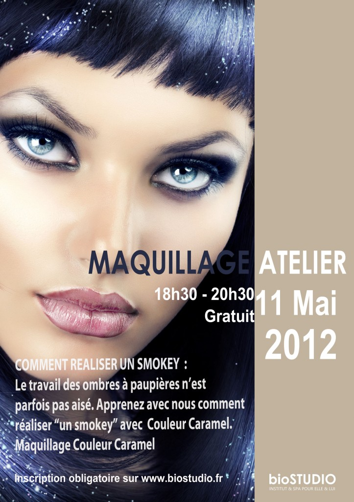 Maquilllage Couleur Caramel - Cours et Ateliers chez bioSTUDIO Institut Dijon