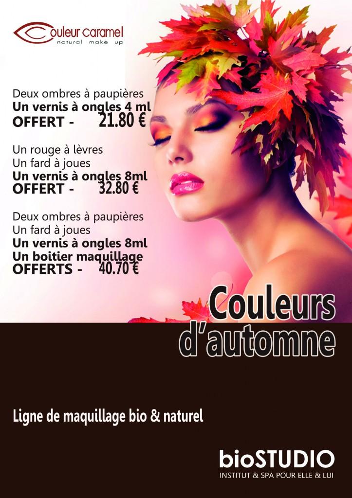 maquillage bio tons bruns et ocres pour l'automne