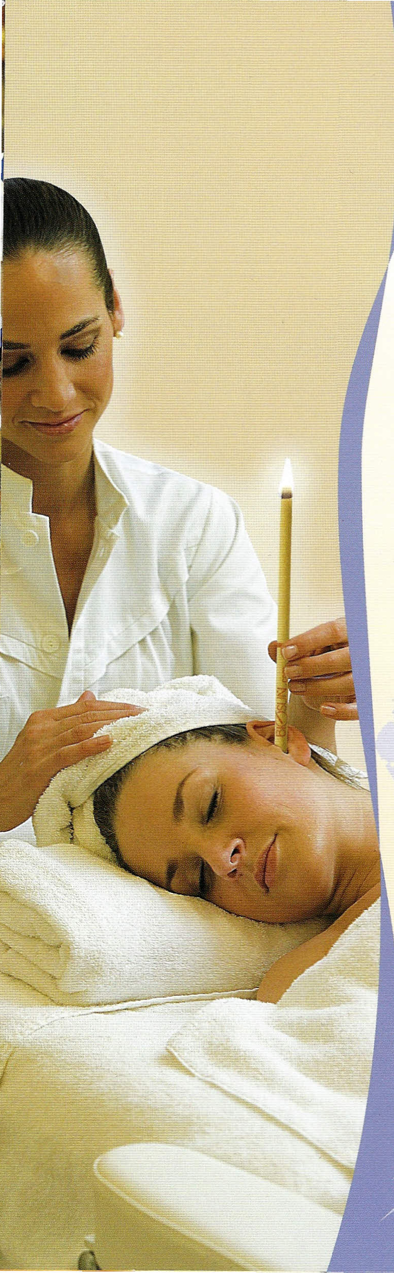 massage avec une bougie auriculaire
