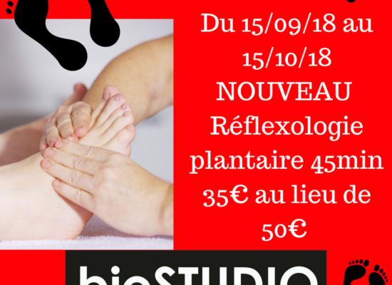 NOUVEAU: réflexologie plantaire de 45 min.